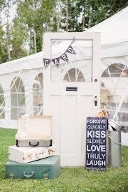 Rustic Backyard Diy Rustic Backyard Wedding In Ontario Rachel Chris