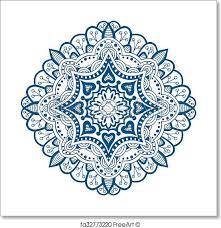 free print of ornament beautiful card with mandala ornament