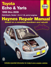 toyota echo yaris shop manual service repair book haynes vitz