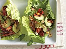 korean cabbage wraps u0026 sweet u0026 sour cucumber salad recipe myrecipes