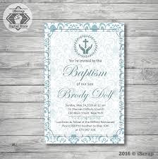 invitación para imprimir bautismo o comunion niño invitación azul