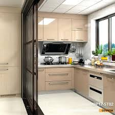modern clean lines stainless steel kitchen cabinet ikea uk