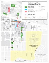Map Of Eugene Oregon by Men U0027s Basketball Parking And Transportation Matthew Knight Arena