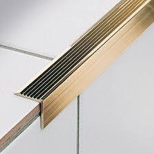 brass stair nosing stairtec ae profilitec