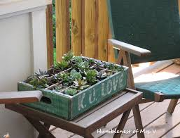 Cool Planters The Humblenest Of Mrs V Repurpose A Vintage Soda Crate