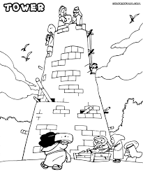 tower coloring pages coloring pages to download and print