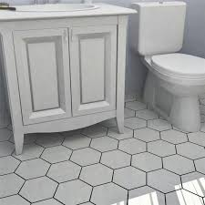 Bathroom White Porcelain Flooring Stainless by Somertile Hextile Matte White Porcelain Floor And Wall Tile Set