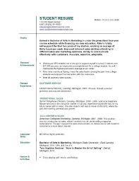 Resume Builder For Students Resume Builder College Student College Student Resume Examples