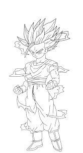 beautiful super saiyan gohan coloring pages gallery printable