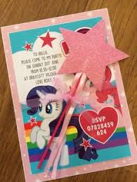 free printable my little pony invitations b day party