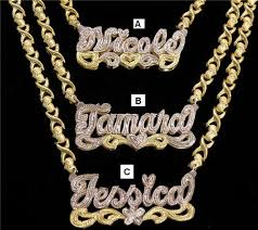 personalized name plate necklaces gold plated name plate gp name plate xoxo