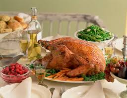 thanksgiving table with turkey turkey day food slimming strategies for favorite foods chew on this