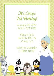 looney tunes baby shower looney tunes free birthday invitation wedding invitation