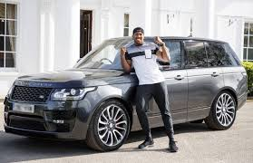 range rover back boxing champ anthony joshua gets range rover svautobiography