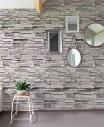 Peel And Stick Wallpaper by Faux Stone Wallpaper Peel And Stick Stacked Stone Cultured