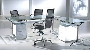 Modern Glass Desk With Drawers Metal Glass Desk Zcdh Me