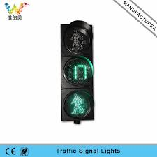 led traffic signal lights 300mm led traffic pedestrian signal light with countdown timer