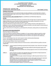 Automotive Technician Resume Skills Automotive Resume General Maintenance Technician Resume Example