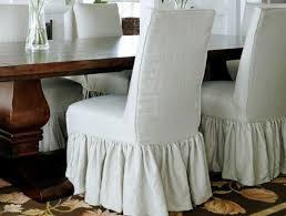 Slipcovered Parsons Dining Chairs Casual Linen Parson Chair Slipcover Think A Embroidered Monogram