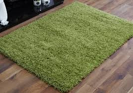 Modern Green Rugs by Small To Large 5cm Thick Pile Luxurious Lime Green Shaggy Rugs