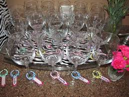 events dee signed baby shower wine glass charms