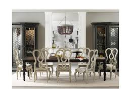 hooker furniture auberose 9 piece dining set with splatback chairs