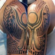 nathanemery polynesian tattoo sf san francisco black and grey