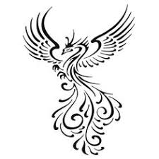 tribal phoenix tattoo vector illustration stock vector real