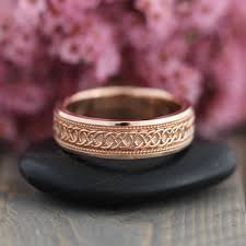 wedding bands in celtic knot wedding band in 14k gold 6mm unique infinity