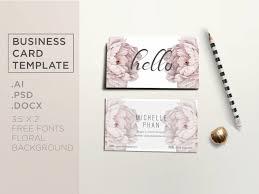 floral business card floral business card template business card design