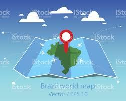 World Map Vector Brazil World Map Stock Vector Art 618975956 Istock