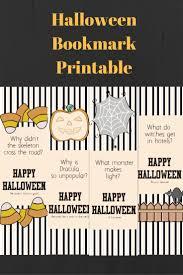 halloween bookmarks free printable halloween jokes free printable fall foods fun pinterest