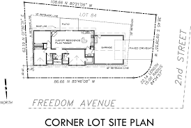 house site plan single level house plans corner lot house plans small corner