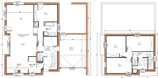 plan maison etage 3 chambres plan de maison moderne a etage gratuit complet 10 rectangle plans