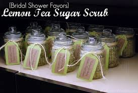 tea party bridal shower favors title bridal shower favors lemon tea sugar scrub title sew