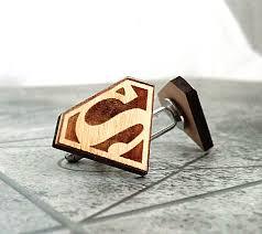 wood gifts for him superman cufflinks wooden cufflinks groomsmen gift groomsmen