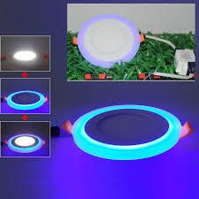 3 model square blue white color led panel light 6w 9w