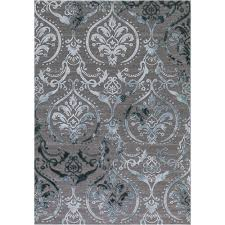 Home Depot Area Rugs Sale Concord Global Trading Thema Large Damask Teal 7 Ft 10 In X 10