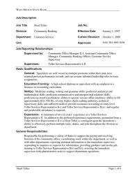 Qualification Resume Examples by Skill Resume Bank Teller Resume Samples Bank Teller Job