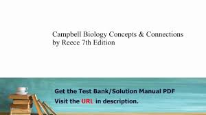 practice test bank for campbell biology concepts u0026 connections by