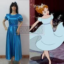peter pan wendy cosplay blue dress halloween costumes women