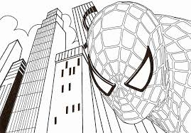 printable coloring pages spiderman kids coloring