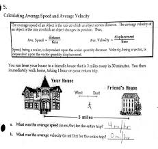speed and velocity worksheets worksheets