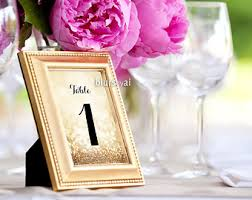 gold wedding table numbers 4 x 6 table numbers etsy