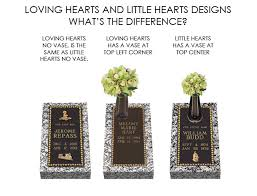 Flat Grave Markers With Vase Loving Hearts Bronze Cemetery Grave Marker Lovemarkers Com
