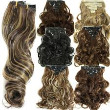 clip hair extensions 160g 7pcs set in hair extension curly hair pieces