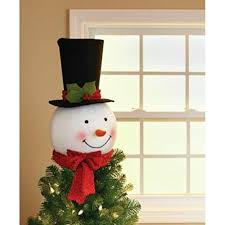 snowman tree 18 in snowman with hat christmas tree topper