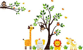 Jungle Wall Decal For Nursery Jungle Wall Decals For Nursery Home Designs Insight Most