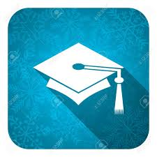 graduation sign education flat icon christmas button graduation sign stock photo