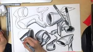 product design drawing time lapse of hair dryer ideation youtube